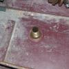 Drain plug in stern of boat