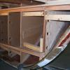 Internal structure completed and ready to be turned around to create starboard side