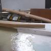 Scarf joint for keel of boat